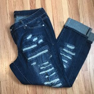 Torrid Boyfriend Cut Distressed Jeans